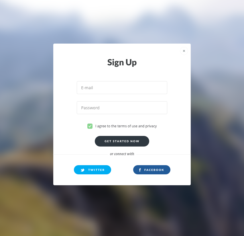 01. Sign up