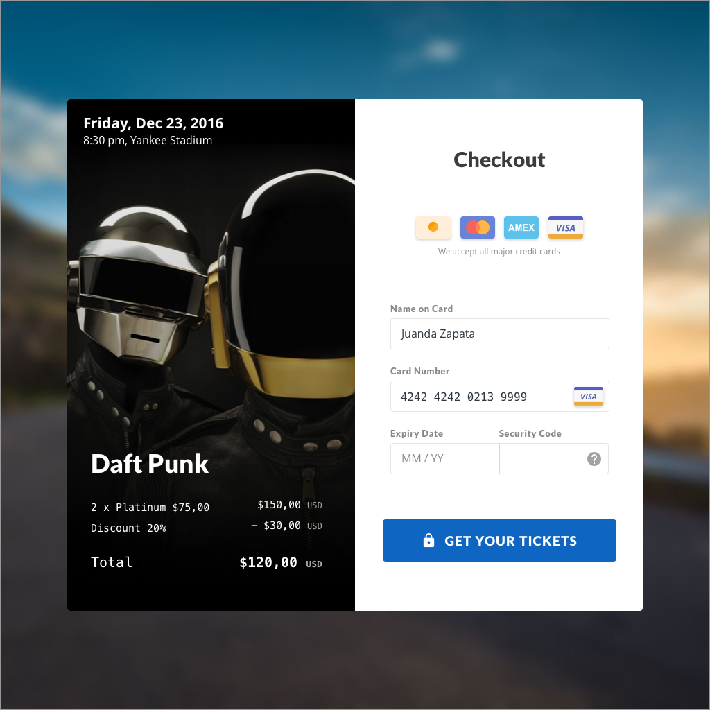 02. Credit Card Checkout